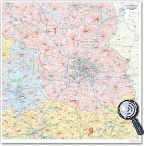 Postleitzahlen Karte Brandenburg.Postleitzahlenkarte Brandenburg Berlin Maßstab 1 250 000